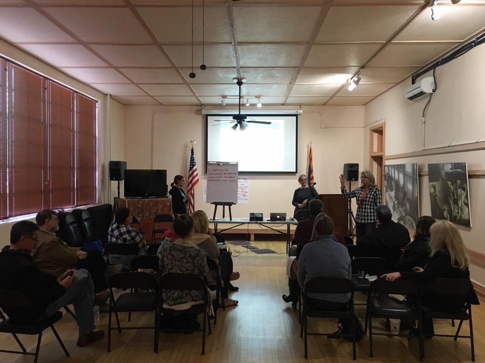 Discussing consumer preferences for locally produced food at Bullion Plaza on Jan 18, 2017
